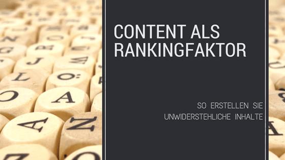 SEO: Content als Rankingfaktor